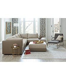 Mattley Fabric Sectional Sofa Collection, Created for Macy's
