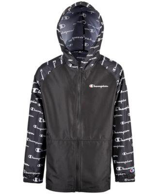 Big Boys Colorblocked Printed Windbreaker Jacket.