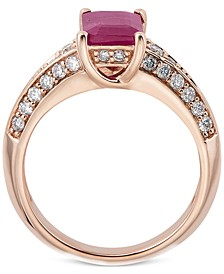 Sapphire (1-3/4 ct. t.w.) & Diamond (1/2 ct. t.w.) Ring in 14k White Gold (Also in Emerald, Tanzanite, & Ruby)