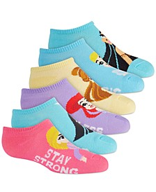Disney's® Princesses No Show Socks, 6-Pack, Little Girls & Big Girls