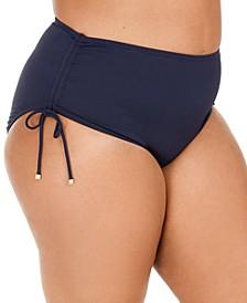 Plus Size Ruched Bikini Bottom