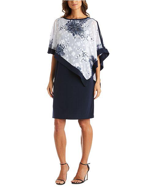 R & M Richards Poncho Dress