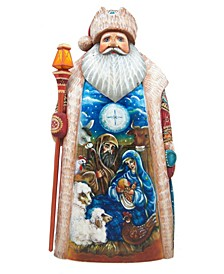 Woodcarved Nativity Special Edition Santa In Crate Figurine