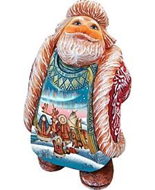 North Pole Looking Up Santa Figurine