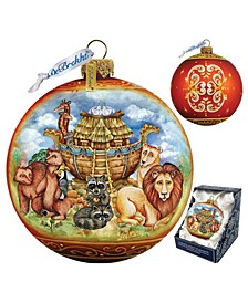 Noah Ark Ball Glass Ornament