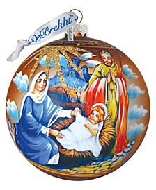 Holy Family Ball Glass Ornament