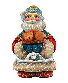 Perfect Pair Santa with Cat Figurine