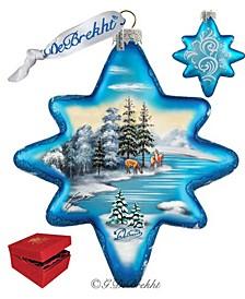 Peaceful Kingdom North Star Limited Edition Glass Ornament