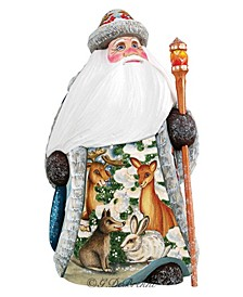 Woodcarved and Hand Painted Forest Gathering Santa Figurine