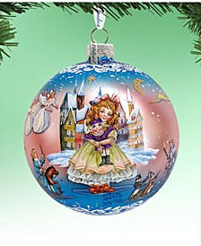 Limited Edition Oversized Nutcracker Fairytale Ball Glass Ornament