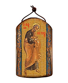 Saint Peter Wooden Greek Christian Orthodox Icon Ornament