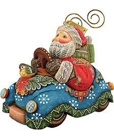 Santa On Car Ornament