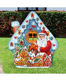Santa Gingerbread House Garden Decor