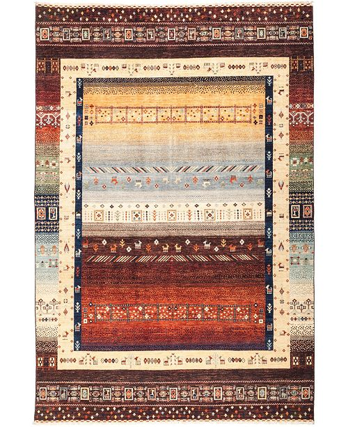"Timeless Rug Designs CLOSEOUT! One of a Kind OOAK2704 Orange 6'7"" x 9'10"" Area Rug"