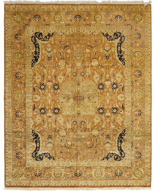 "Timeless Rug Designs CLOSEOUT! One of a Kind OOAK44 Caramel 8'1"" x 10' Area Rug"