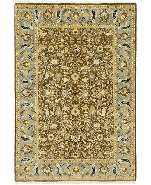 """Timeless Rug Designs CLOSEOUT! One of a Kind OOAK115 Cocoa 6'1"""" x 9' Area Rug"""