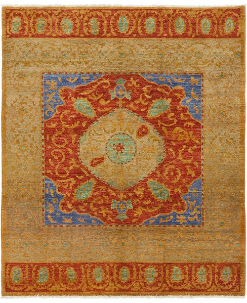 "Timeless Rug Designs CLOSEOUT! One of a Kind OOAK155 Tan 8'2"" x 9'7"" Area Rug"