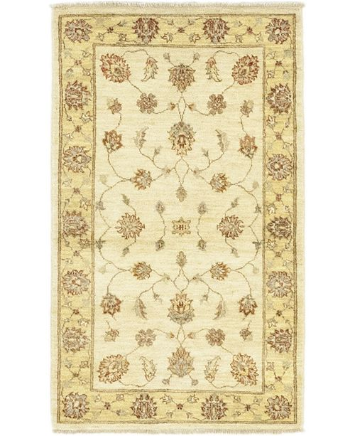 """Timeless Rug Designs CLOSEOUT! One of a Kind OOAK174 Cream 3'1"""" x 5'2"""" Area Rug"""