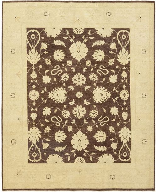 "Timeless Rug Designs CLOSEOUT! One of a Kind OOAK195 Brown 8'2"" x 10'1"" Area Rug"