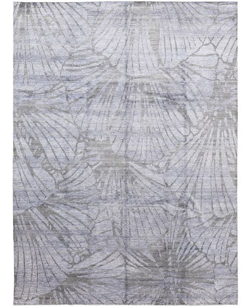 """Timeless Rug Designs CLOSEOUT! One of a Kind OOAK364 Gray 9' x 12'1"""" Area Rug"""
