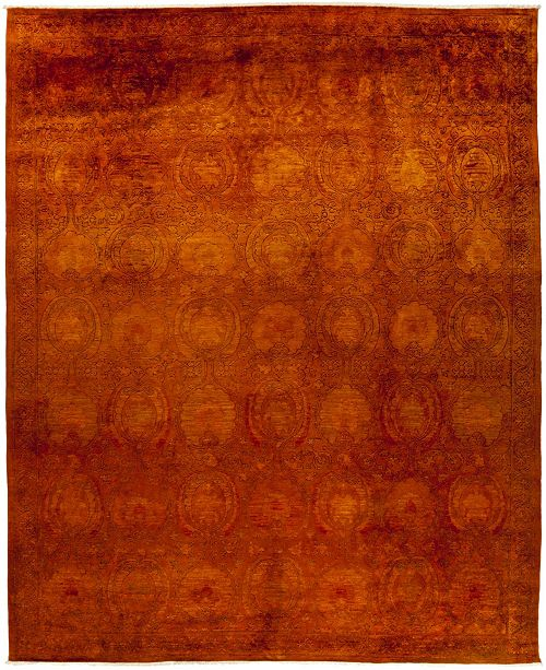 """Timeless Rug Designs CLOSEOUT! One of a Kind OOAK447 Red 9'1"""" x 11'5"""" Area Rug"""