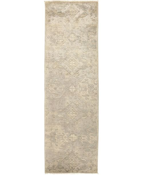 """Timeless Rug Designs CLOSEOUT! One of a Kind OOAK495 Beige 3'1"""" x 10' Runner Rug"""