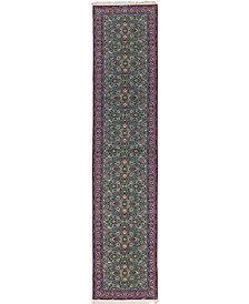 """CLOSEOUT! One of a Kind OOAK567 Teal 3' x 13'4"""" Runner Rug"""