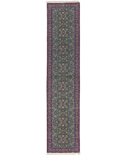 """Timeless Rug Designs CLOSEOUT! One of a Kind OOAK567 Teal 3' x 13'4"""" Runner Rug"""