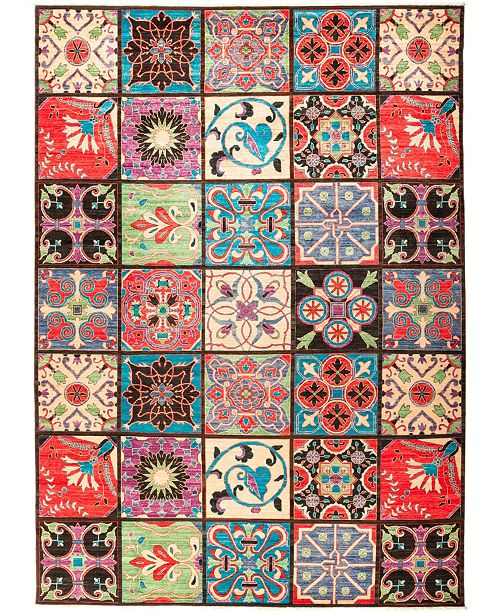 """Timeless Rug Designs CLOSEOUT! One of a Kind OOAK1237 Red 10' x 14'1"""" Area Rug"""
