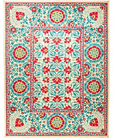 "CLOSEOUT! One of a Kind OOAK1254 Turquoise 9'1"" x 11'10"" Area Rug"