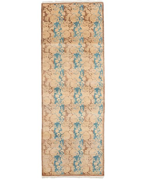"""Timeless Rug Designs CLOSEOUT! One of a Kind OOAK3998 Mocha 2'8"""" x 7'10"""" Runner Rug"""