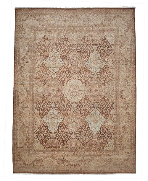 """Timeless Rug Designs CLOSEOUT! One of a Kind OOAK3929 Mocha 9'1"""" x 12'5"""" Area Rug"""