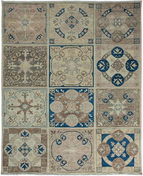 """Timeless Rug Designs CLOSEOUT! One of a Kind OOAK3446 Navy 8'1"""" x 9'10"""" Area Rug"""