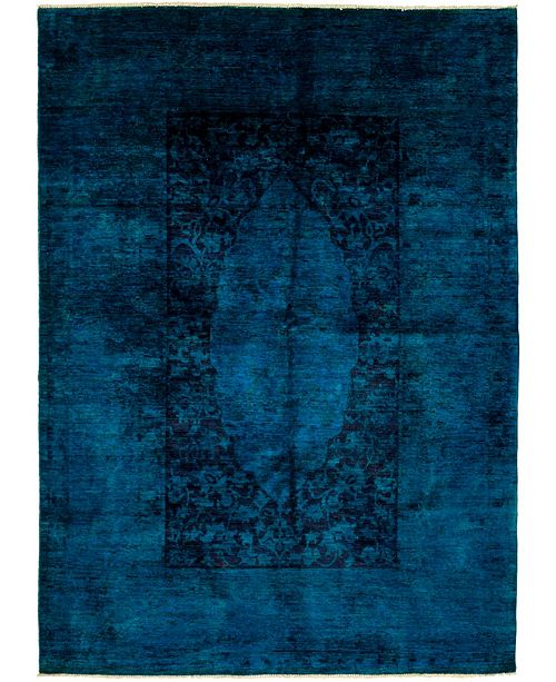 """Timeless Rug Designs One of a Kind OOAK3931 Sapphire 6'1"""" x 8'5"""" Area Rug"""
