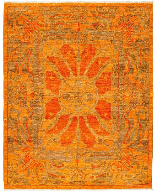 """Timeless Rug Designs CLOSEOUT! One of a Kind OOAK3311 Tangerine 8'2"""" x 10'3"""" Area Rug"""