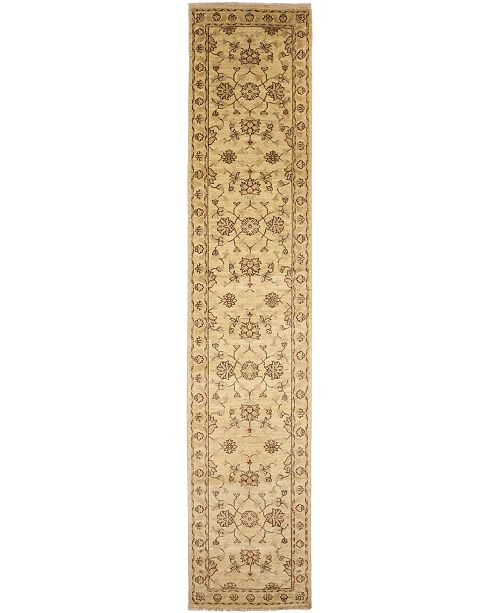 "Timeless Rug Designs One of a Kind OOAK3947 Flax 2'6"" x 13' Runner Rug"