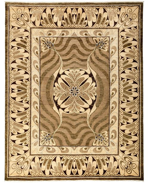 "Timeless Rug Designs CLOSEOUT! One of a Kind OOAK3253 Mocha 8'2"" x 10'5"" Area Rug"