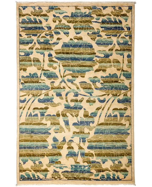 "Timeless Rug Designs CLOSEOUT! One of a Kind OOAK3188 Cream 4'2"" x 6'2"" Area Rug"