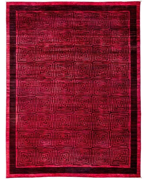 """Timeless Rug Designs CLOSEOUT! One of a Kind OOAK3114 Red 8'10"""" x 11'8"""" Area Rug"""