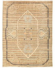 """CLOSEOUT! One of a Kind OOAK3033 Beige 5'3"""" x 6'9"""" Area Rug"""