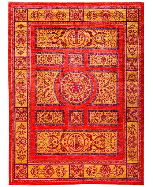 """Timeless Rug Designs CLOSEOUT! One of a Kind OOAK3003 Red 8'10"""" x 11'10"""" Area Rug"""