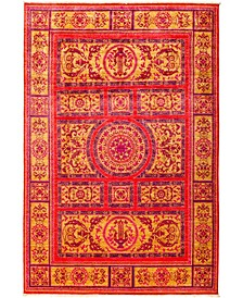 """CLOSEOUT! One of a Kind OOAK2974 Red 5'10"""" x 8'8"""" Area Rug"""