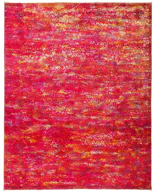 "Timeless Rug Designs CLOSEOUT! One of a Kind OOAK2950 Pink 7'10"" x 9'10"" Area Rug"