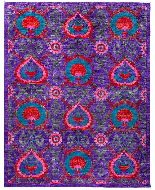 "Timeless Rug Designs CLOSEOUT! One of a Kind OOAK2883 Purple 8'1"" x 10'5"" Area Rug"