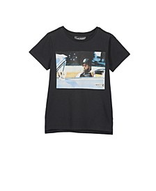 Toddler, Little and Big Boys Short Sleeve License1 Tee
