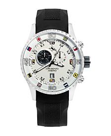Men's Porto Cervo Professional Regatta Black Silicone Performance Timepiece Watch 47mm