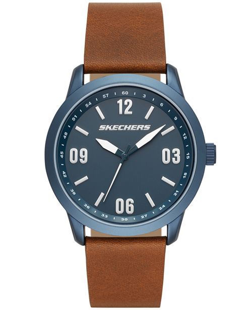Skechers Cordary Three-Hand Leather Watch 45MM