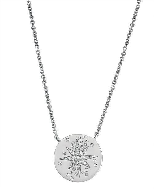 Serena Williams Jewelry Starry Night Diamond (1/8 ct. t.w.)  Necklace in 14K White Gold