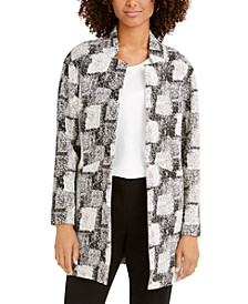 Jacquard Stand-Collar Jacket