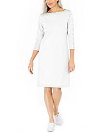 Cotton Studded Swing Dress, Created for Macy's